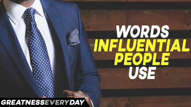 Words Influential People Use